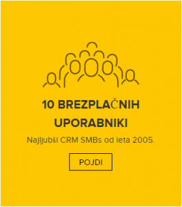 ZOHO CRM 10 brezplačnih uporabnikov